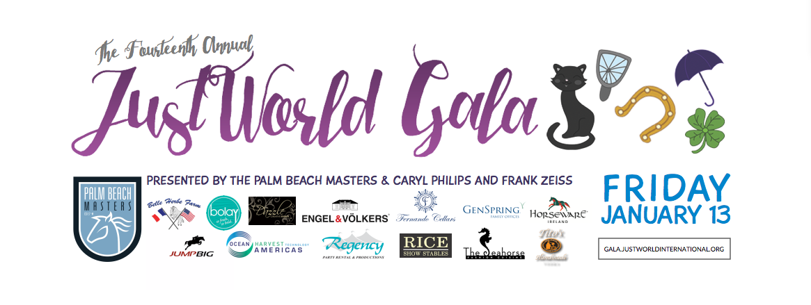 Celebrate a Night of Good Fortune at The Fourteenth Annual JustWorld Gala Presented by The Palm Beach Masters & Caryl Philips and Frank Zeiss