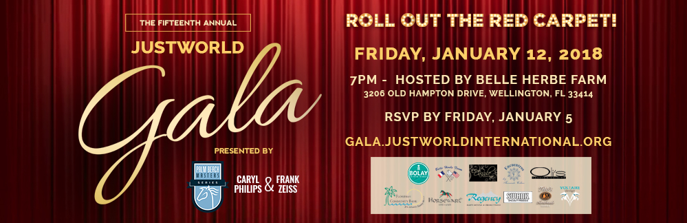 The Palm Beach Masters Series and Caryl Philips & Frank Zeiss Present the Fifteenth Annual JustWorld Gala
